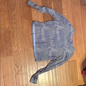 An Abercrombie and Fitch camo crop top